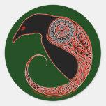 Los pegatinas célticos del cuervo de Morrigan, ver