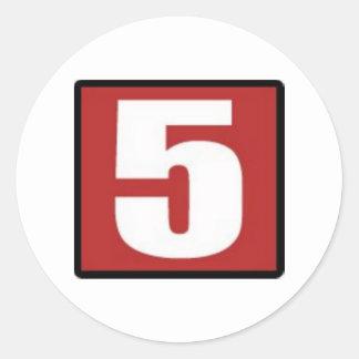 Los pegatinas - cifre el rojo 911 pegatinas redondas