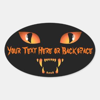 Los pegatinas de Halloween personalizaron al Pegatina Ovalada