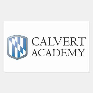 "Los pegatinas de la academia de Calvert (4,5"" x Pegatina Rectangular"