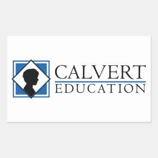 """Los pegatinas de la educación de Calvert (4,5"""" Pegatina Rectangular"""