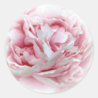 Los pegatinas de la flor del boda pegatina redonda