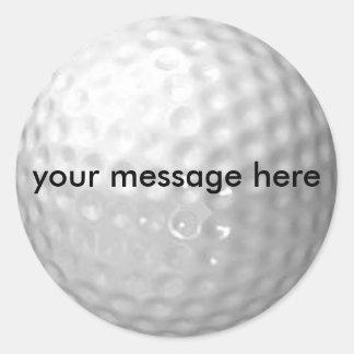 los pegatinas de la pelota de golf - añada su etiqueta redonda