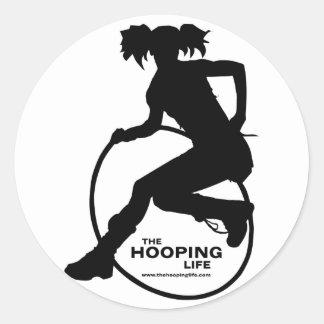 Los pegatinas de la vida de Hooping Pegatina Redonda