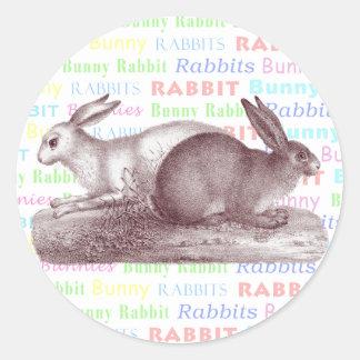 Los pegatinas de los conejos de conejito - vista p