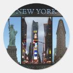 Los pegatinas de Nueva York refrescan a los Etiquetas Redondas