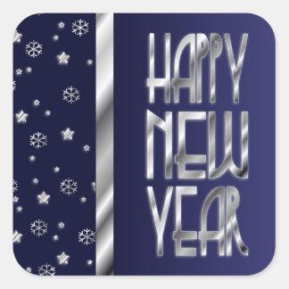 Los pegatinas del Año Nuevo de las estrellas y de Pegatina Cuadrada