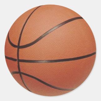 Los pegatinas del baloncesto, a la mano escriben pegatina redonda