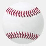 Los pegatinas del béisbol - añada su mensaje