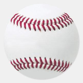 Los pegatinas del béisbol - añada su mensaje pegatinas redondas