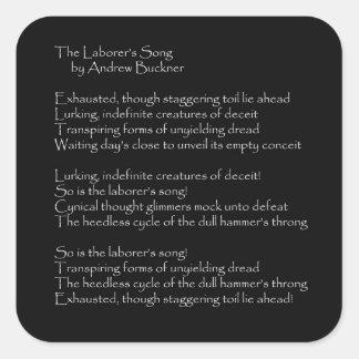 Los pegatinas del cuadrado del poema de la canción pegatina cuadrada