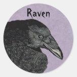 Los pegatinas del cuervo pegatina redonda