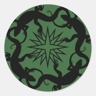 Los pegatinas del lagarto refrescan a los pegatinas redondas