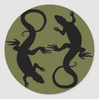 Los pegatinas del lagarto refrescan a los pegatina redonda