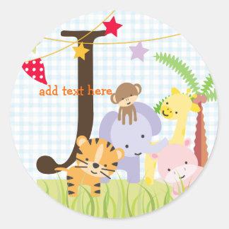 Los pegatinas del tema de la selva/añaden el pegatina redonda