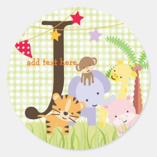 Los pegatinas del tema de la selva/añaden el pegatinas redondas