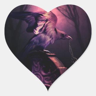 Los pegatinas dominantes del encargado pegatina en forma de corazón