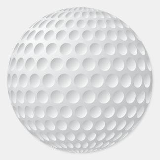 Los pegatinas en blanco del golf o lo modifican pegatina redonda