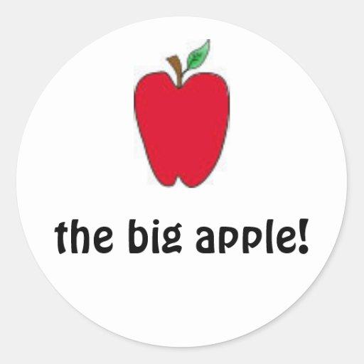 los pegatinas grandes de la manzana pegatina redonda