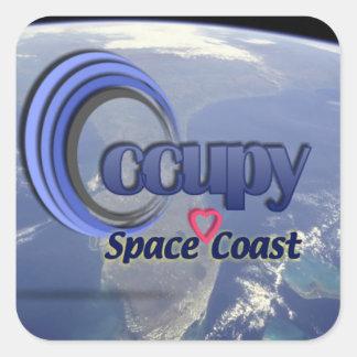Los pegatinas - ocupe Spacecoast Calcomanía Cuadradas Personalizadas