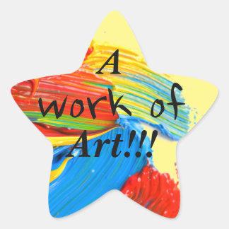 """Los pegatinas """"premiados"""" del profesor de arte pegatina en forma de estrella"""
