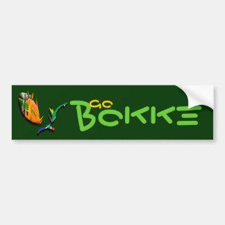 Los pegatinas surafricanos de Bokke de los partida Pegatina De Parachoque