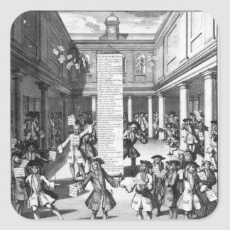 Los peleles Bubbl d 1720 Calcomania Cuadradas Personalizadas