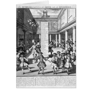 Los peleles Bubbl'd, 1720 Tarjeta De Felicitación