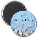 Los pelos blancos - coverx5 delantero imán de frigorifico