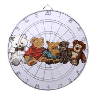 Los peluches osos de peluche engrasan arte en co tablero dardos