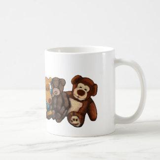 Los peluches, osos de peluche, engrasan arte en taza