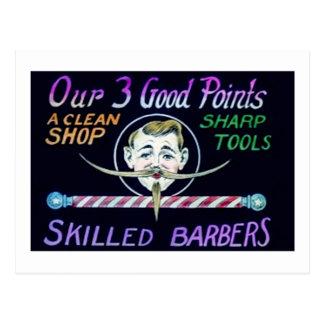 Los peluqueros de la peluquería de caballeros postal