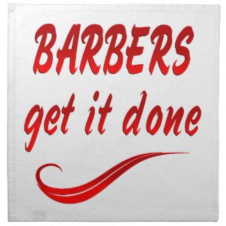 Los peluqueros lo consiguen hecho servilletas imprimidas