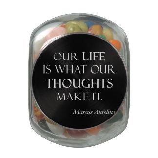 Los pensamientos de la vida de Marco Aurelius del  Frascos Cristal