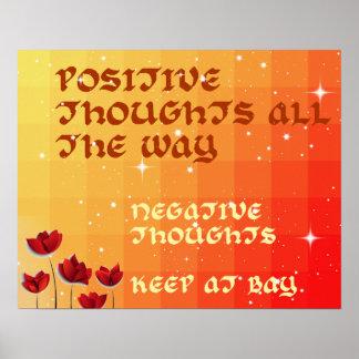 Los pensamientos positivos coloridos inspiran el póster
