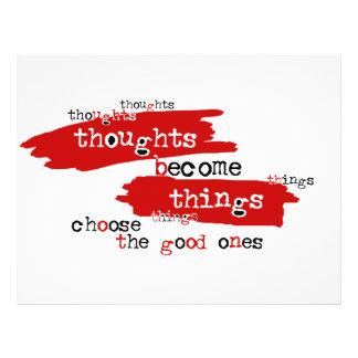 """Los pensamientos se convierten en cosas folleto 8.5"""" x 11"""""""