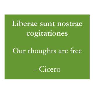 Los pensamientos son Cicero libre Tarjetas Postales
