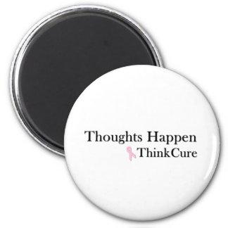 Los pensamientos suceden piensan la curación imán redondo 5 cm