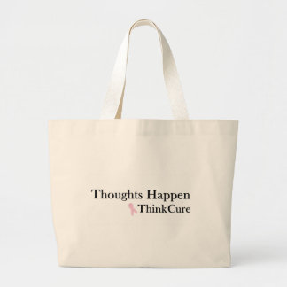 Los pensamientos suceden piensan la curación - tot bolsas lienzo