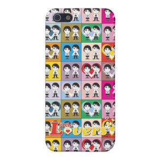Los pequeños amantes - ame la caja de la mota del iPhone 5 fundas