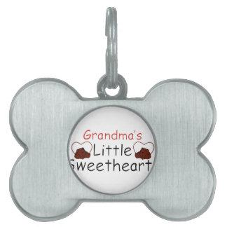 Los pequeños amores de la abuela placas de nombre de mascota