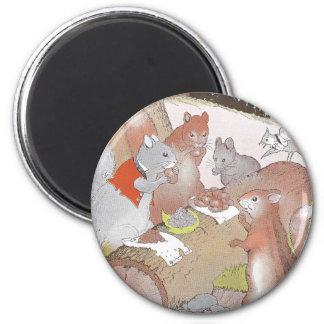Los pequeños animales del arbolado comparten un ba imán redondo 5 cm