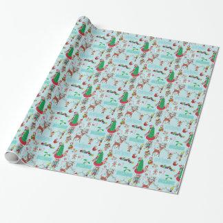 Los pequeños ayudantes de Santa, papel de regalo