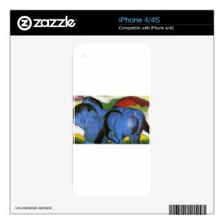 Los pequeños caballos azules de Franz Marc Calcomanías Para iPhone 4S