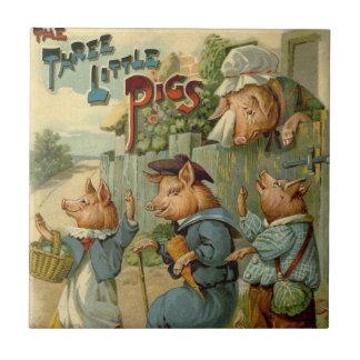 Los pequeños cerdos del vintage tres, mamá son tri tejas  ceramicas
