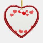 Los pequeños corazones - añada su mensaje ornamente de reyes