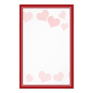 Los pequeños corazones - añada su mensaje personalized stationery