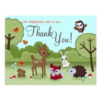 Los pequeños Critters le agradecen postal