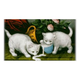 los pequeños gatitos blancos que consiguen en trav tarjetas de negocios