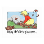 Los pequeños placeres de la vida tarjeta postal